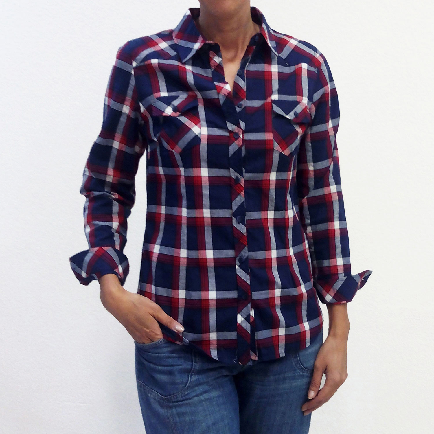 14900c082 Camisa cuadros yoke - ISCLAUJEANS